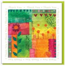 Colourful Thank You Card No Verse