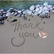 Thank You Card With Sand & Shell
