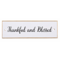 Thankful And Blessed Ceramic Wall Plaque