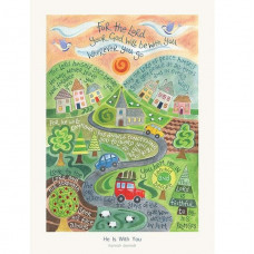 Hannah Dunnett He Is With You Greetings Card