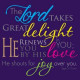 Pack Of Four Notecards - The Lord Takes Great Delight In You