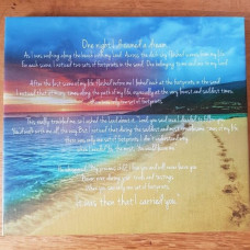Footprints Poem Canvas
