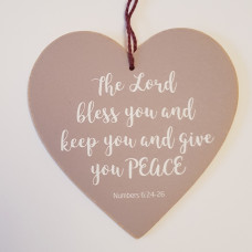 The Lord Bless You Hanging Heart Decoration