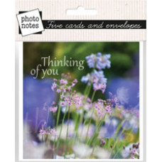Photonotes Thinking Of You Floral Notecards Pack of 5