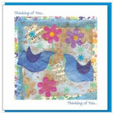 Thinking Of You BlueBirds Card