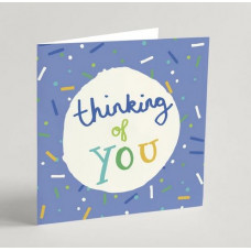 Thinking Of You Card Blue