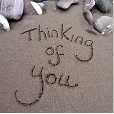 Thinking Of You Card - Sand