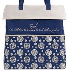 Canvas Medallion Tote Bag - Truth
