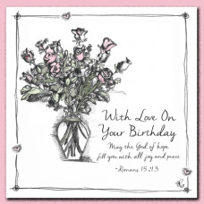 Tracey Russell With Love On Your Birthday  Greetings Card