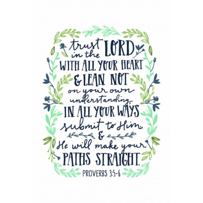 Trust In The Lord Wreath Print