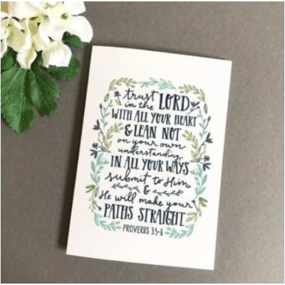 Trust In The Lord Card A6