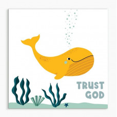 Trust God Whale Nursery Framed Print