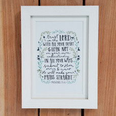 Framed Print: Trust In The Lord