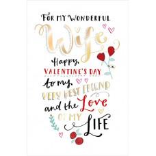 Valentine's Day Card Wonderful Wife