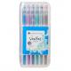 Veritas Colouring Gel Pen Set 12 Metallic/Glitter
