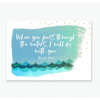 When You Pass Through The Waters Greetings Card