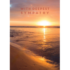 With Deepest Sympathy Sunset Card