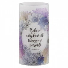 LED Candle - With God All Things Are Possible