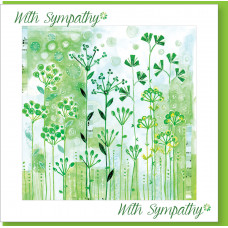 With Sympathy Green Seeds Card - Without Verse