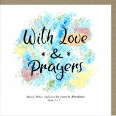 Love and Prayers Greetings Card