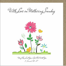 With Love On Mothering Sunday Floral Greetings Card
