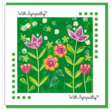 Sympathy Garden Greetings Card - With Bible Verse