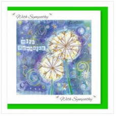Sympathy Card - Blue Seed Heads With Bible Verse