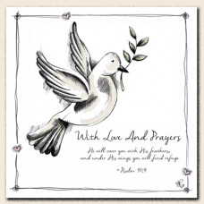 Tracey Russell Love & Prayers Dove Card