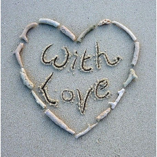 With Love Card Sand & Shell Heart