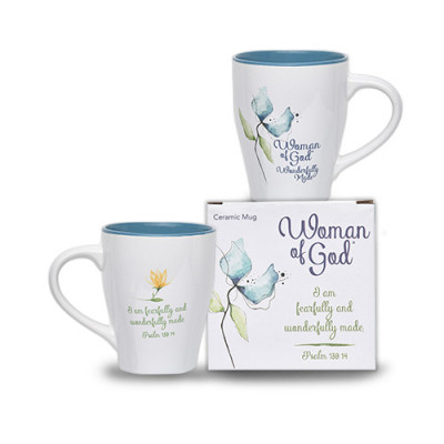 Woman Of God Wonderfully Made Boxed Mug