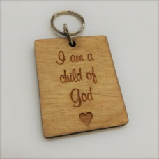 Wooden Keyring I Am A Child Of God