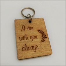 Wooden Keyring I Am With You Always