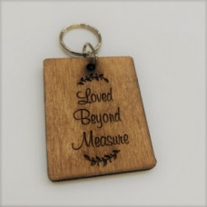 Wooden Keyring Loved Beyond Measure