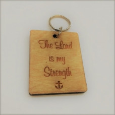 Wooden Keyring The Lord Is My Strength