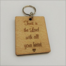 Wooden Keyring Trust In The Lord