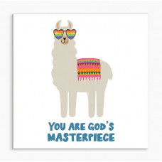 God's Masterpiece Llama Framed Print