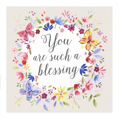 You Are Such A Blessing Butterfly Card