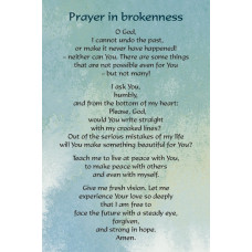 A Prayer In Times Of Brokenness Postcard
