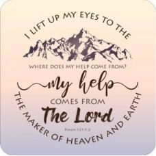 I Lift My Eyes Coaster