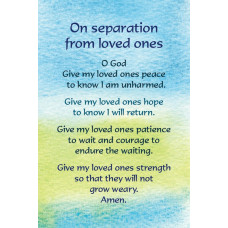 On Separation From Loved Ones Postcard