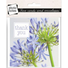 Photonotes Thank You Floral Notecards Pack of 5 Agapanthus