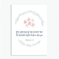 The Lord Bless You And Keep You Flowers Greetings Card