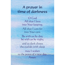 Prayer In Time Of Darkness Postcard