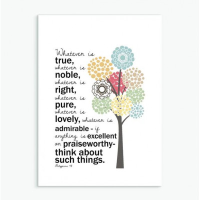 Whatever Is True A6 Greetings Card